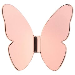 Ghidini 1961 Single Butterfly Hook in Rose Gold Finish
