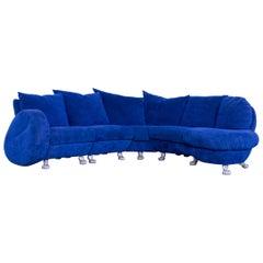 Bretz Popeye Fabric Corner-Sofa Blue