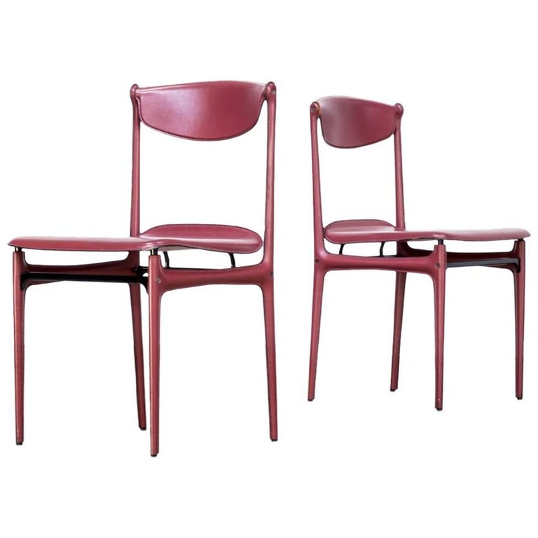 1980s Tito Agnoli Chairs for Matteo Grassi Set of Two