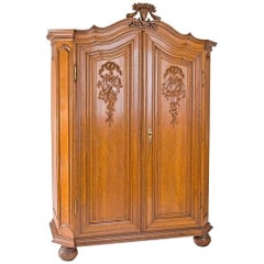 Classicist Oak Cabinet from circa 1780