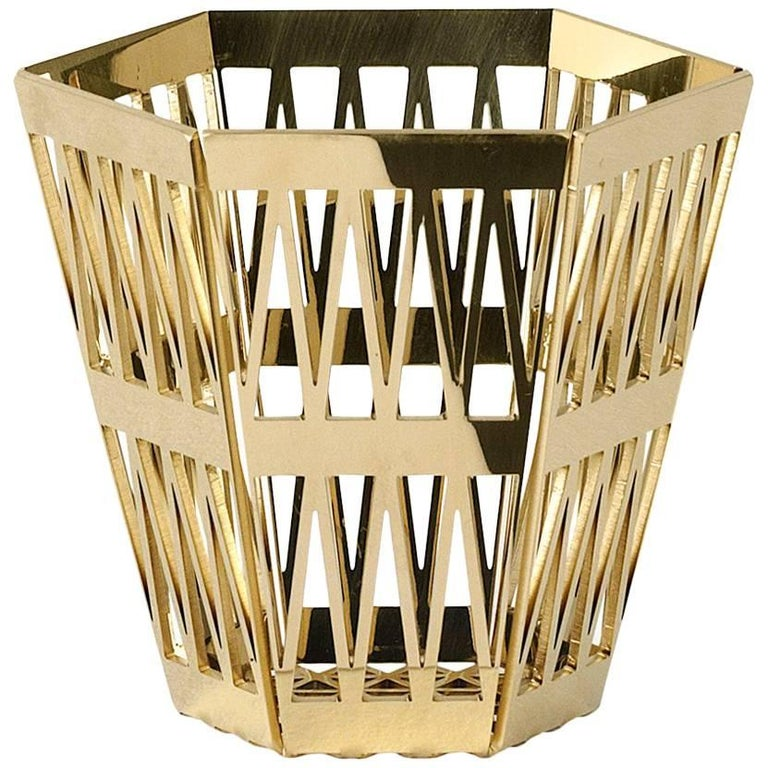 Ghidini 1961 Tip Top Pencil Holder in Polished Gold Finish