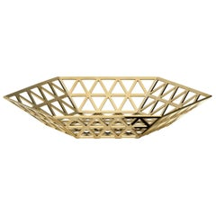 Ghidini 1961 Tip Top Flat Tray in Polished Gold Finish