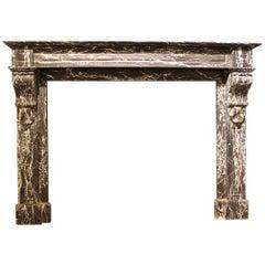 Beautiful Fireplace Mantel, 19th Century