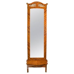 High Monumental Floor Mirror from the 19th Century -  9 ft. 5 in. / 287 cm high