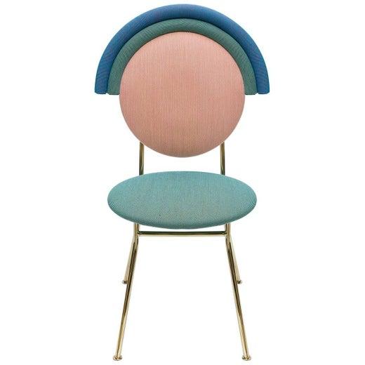 Merve Kahraman Iris Chair with Brass Finished Legs
