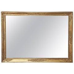 19th Century Empire Gilt Frame Wall Mirror