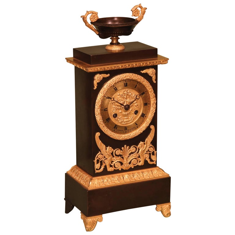 19th Century Bronze and Ormolu French Clock