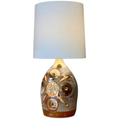 Large Gilt Ceramic Table Lamp by Georges Pelletier