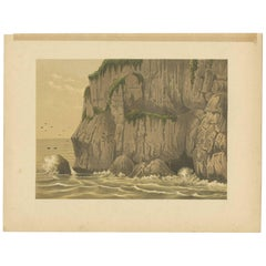 Antique Print of the Gunung Balong Mountain by M.T.H. Perelaer, 1888