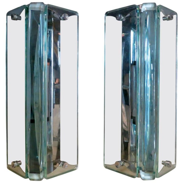 Pair of Italian Glass Wall Sconces