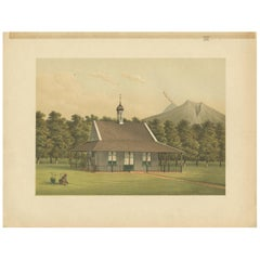 Antique Print of a Church in Salatiga by M.T.H. Perelaer, 1888