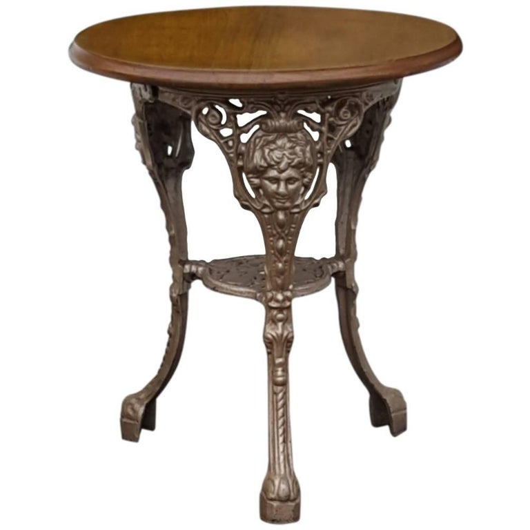 Victorian Cast Iron Garden Table For Sale