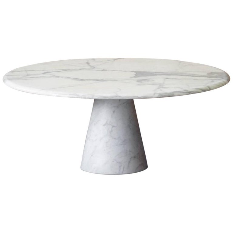 Marble Tulip Sofa Side Table Eros by Angelo Mangiarotti Skipper, Italy