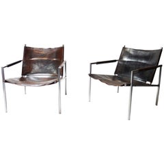 Pair of Lounge Chair Model 'SZ02' by Martin Visser for 't Spectrum Bergeijk