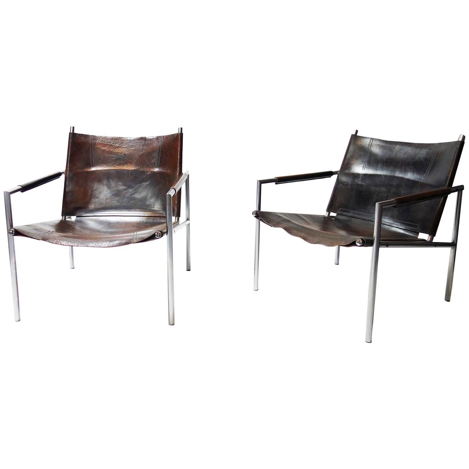 Pair Of Lounge Chair Model U0027SZ02u0027 By Martin Visser For U0027t Spectrum Bergeijk