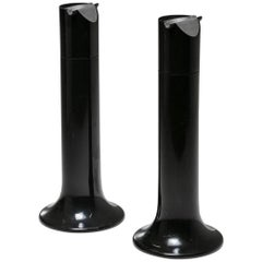 "Pair of ""Griglia"" Floor Ashtrays by Enzo Mari for Danese"