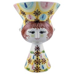 Large Wiinblad, Unique Vase of Multicolored Ceramic