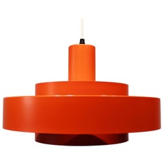 Equator Pendant, Orange/Red, by Jo Hammerborg for Fog and Mørup, 1960s