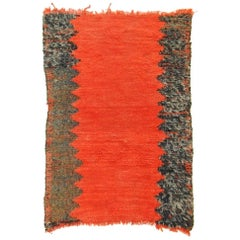 20th Century Berber Imouzzer-Kandar Rug Red and Black in Wool