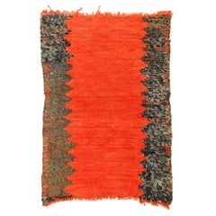 20th Century Red and Black in Wool Berber Tribal Imouzzer-Kandar Rug, 1960s