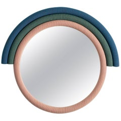 Contemporary Iris Rainbow Mirror with Kvadrat Upholstery