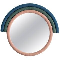 Contemporary Iris Rainbow Mirror with Kvadrat Upholstery