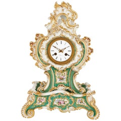 Porcelain Clock in the Louis XV Style by Jacob Petit