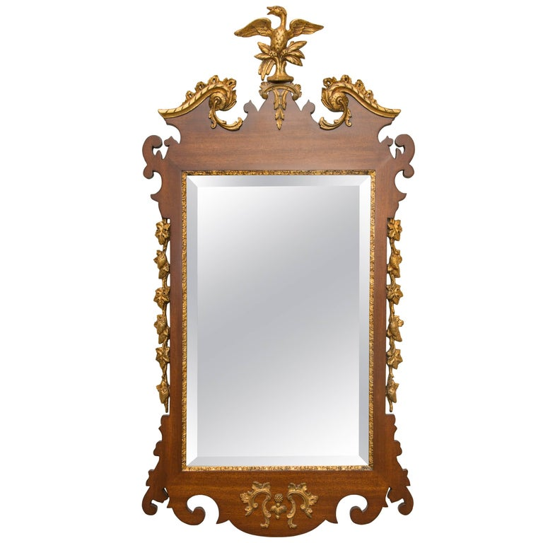 Mahogany and Parcel-Gilt George II Style Mirrors For Sale