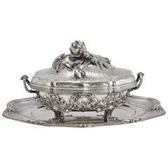 Puiforcat Silver Sterling Pair of Tureens
