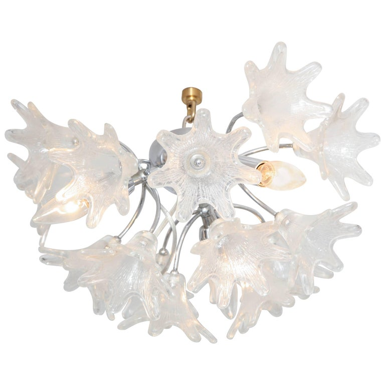 Murano Flush Mount Floral Light Fixture
