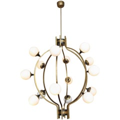 Huge Custom Chandelier in the Manner of Stilnovo