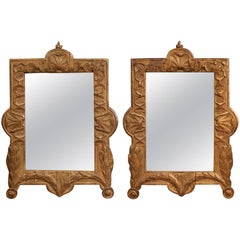 French 18th Century Gilt Wood Mirror At 1stdibs