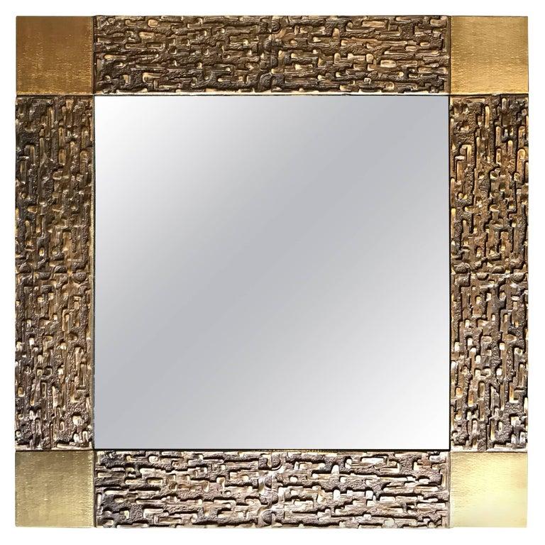 Luciano Frigerio Bronze Mirror