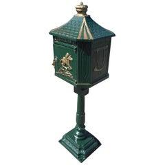Cast Iron Locking Mailbox on Post