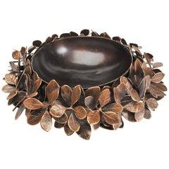 Bronze Kathal Leaf Bowl