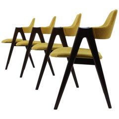 Set of Four Oak Compass Chair by Kai Kristiansen for SVA Møbler