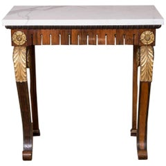 19th Century North European Rosewood Veneered Console or Hall Table
