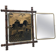 Triptych Folding Traveling Shaving Mirror, Late 19th-Early 20th Century