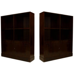 Pair of French Art Deco Bookcase Cabinets