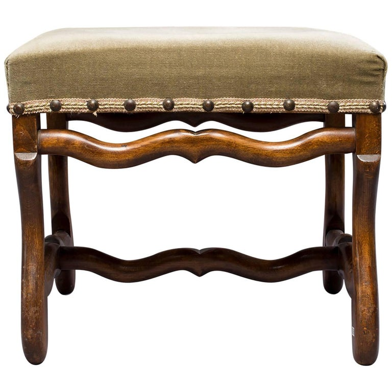 French Early 20th Century Os De Mouton Stool or Bench