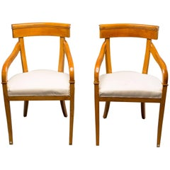 Pair of Biedermeier Style Armchairs