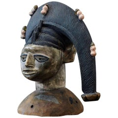 Polychrome Egungun Headdress, Yoruba People, Oyo, Nigeria circa 1940