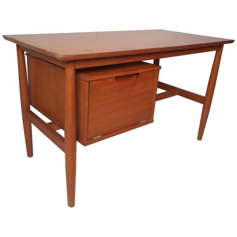 Vintage Modern Desk with a Finished Back by Drexel