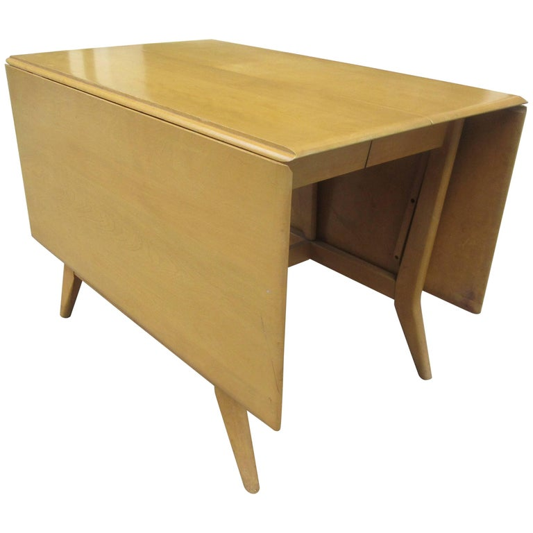 Heywood Wakefield Drop Leaf Table with Two Additional Leaves