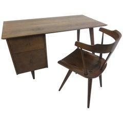 Paul McCobb Planner Group Walnut Desk and Chair