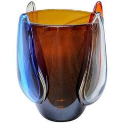 "Vase in Murano Glass Signed ""Toso Murano"""