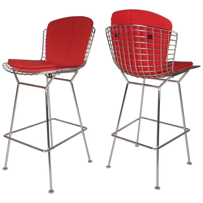 Pair of Midcentury Bar Stools by Knoll