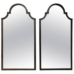 Pair of French Iron Window Frames Now as Mirrors