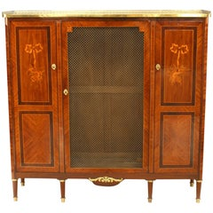 French Louis XVI Style High Cabinet