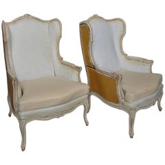Pair of Swedish Wing Chairs
